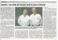 Article de journal sur le dojo Ken Zen Itchi