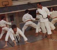 Nakayama Sensei et Alain Faucher en 1972