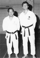 Nakayama Sensei et Alain Faucher en 1986