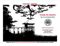 Stage de karaté - Nouveau-Brunswick