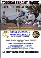 Stage karate Maroc 2011