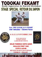 Stage Special Retour du Japon Novembre 2010