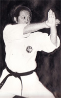 Yamaguchi Toru Sensei exécutant un mouvement de Gankaku