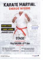 Stage avec Guy Sauvin