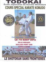Stage karate Todokai et kobudo